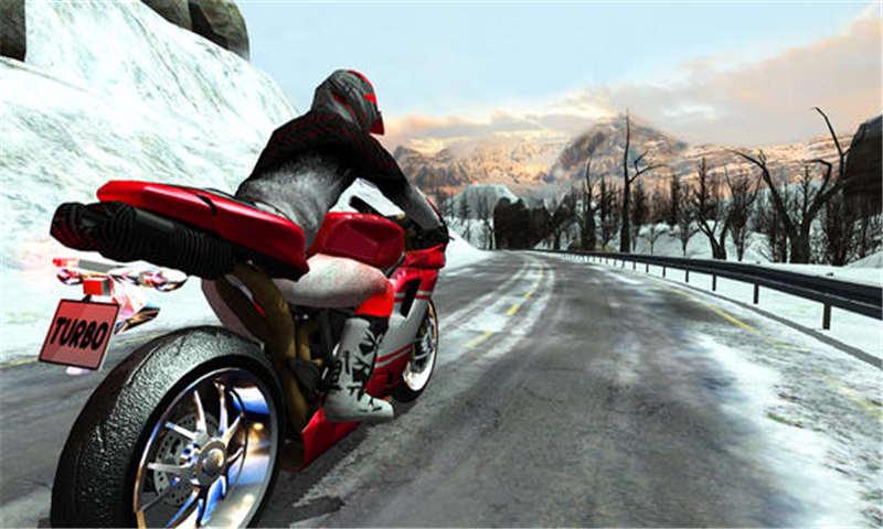 极速摩托冬季高速公路拉力赛截图
